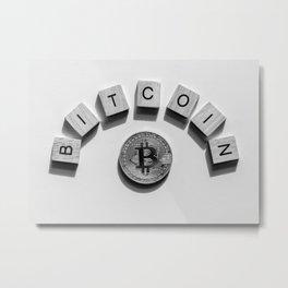 Bitcoin Cryptocurrency Metal Print