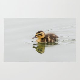Duckling swimming Rug