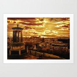 Edinburgh itself Art Print