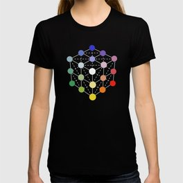 Colour cube (white point) from the Manual of the science of colour by W. Benson, 1871, Remake T-shirt