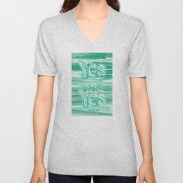 Yes means Yes - SB967 - Aqua Unisex V-Neck