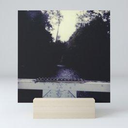 bridge over river Mini Art Print