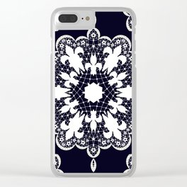 White lace Clear iPhone Case