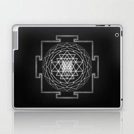 Sri Yantra XI - Black & White Laptop & iPad Skin