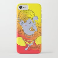 ganesh iPhone & iPod Cases featuring Ganesh  by xDiNKix
