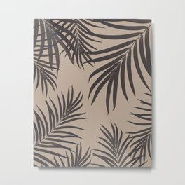 Palm Leaves Pattern Sepia Vibes #1 #tropical #decor #art #society6 Metal Print