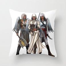Warrior Angels Throw Pillow
