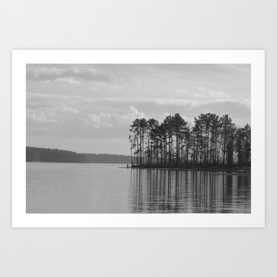 Lake Jordan B&W Art Print