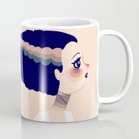 bride Mugs featuring The Bride by Nan Lawson