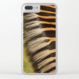 zebra detail Clear iPhone Case