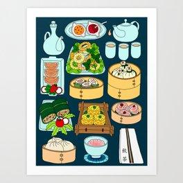 Dim Sum Lunch Art Print