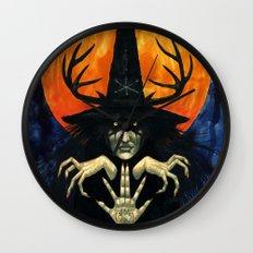 Autumn Conjurer Wall Clock