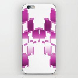 pink purple white cactus abstract geometrical art iPhone Skin