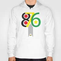 jamaica Hoodies featuring 876 Jamaica Area Code Print by Ahfimi Brands