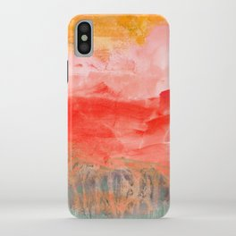coral horizon iPhone Case