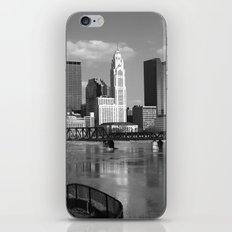 Columbus Ohio 3 - B&W iPhone Skin
