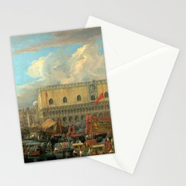 Luca Carlevarijs The Bucintoro Departing from the Bacino di San Marco Stationery Cards