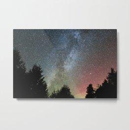 Michigan Milky Way and Northern Lights Metal Print