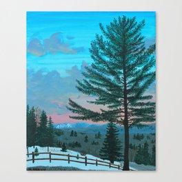 VT Cabin View Canvas Print