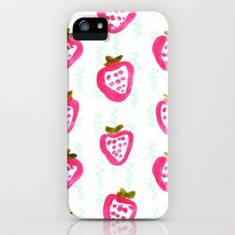 strawberry rain iPhone Case