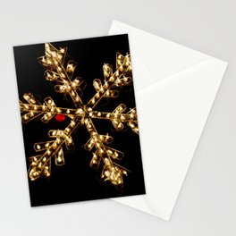 Abstract Golden Holiday Star Stationery Cards