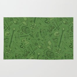 Inventory in Green Rug