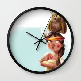 Litte Owl Girl Wall Clock