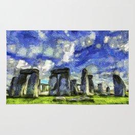 Stonehenge Vincent Van Gogh Rug