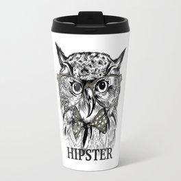 Hispter owl background Travel Mug