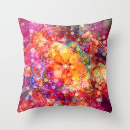 Dreaming Lotus Throw Pillow
