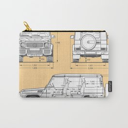 GWAGON BLUEPRINT (yellow) Carry-All Pouch