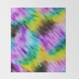 Rainbow furs Throw Blanket