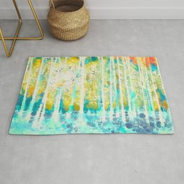 Sherwood Pines Abstract Art Rug