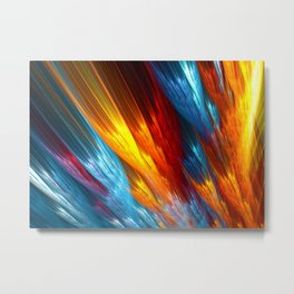 Fire and Feathers Metal Print