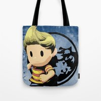 lucas david Tote Bags featuring Lucas by ScoDeluxe