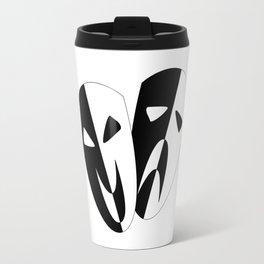 Black and White Stage Masks Travel Mug