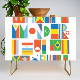 What A Wonderful World II Credenza