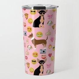chihuahua emoji funny dog gifts emojis Travel Mug