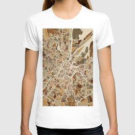 Belfast Northern Ireland City Map T-shirt