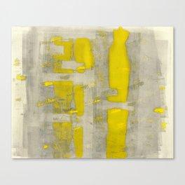Stasis Gray & Gold 4 Canvas Print