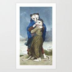 L'Opossums Art Print