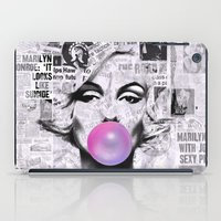 newspaper iPad Cases featuring Marilyn Newspaper Headlines PopArt by cvrcak
