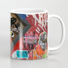 New York City Door Graffiti Coffee Mug