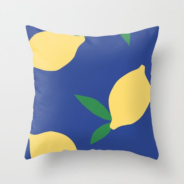 Lemons - Collage Throw Pillow