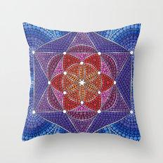 Creation Mandala Throw Pillow