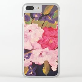 Peonies and Iris Clear iPhone Case