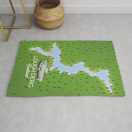 Lough Derg Ireland Map Rug