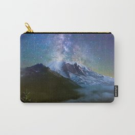Milky Way Over Mount Rainier Carry-All Pouch