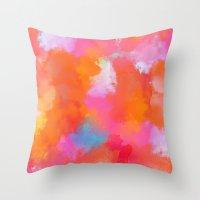 blush Throw Pillows featuring blush by Lasse Egholm