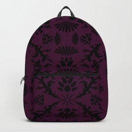 Purple Thistle Damask Backpack
